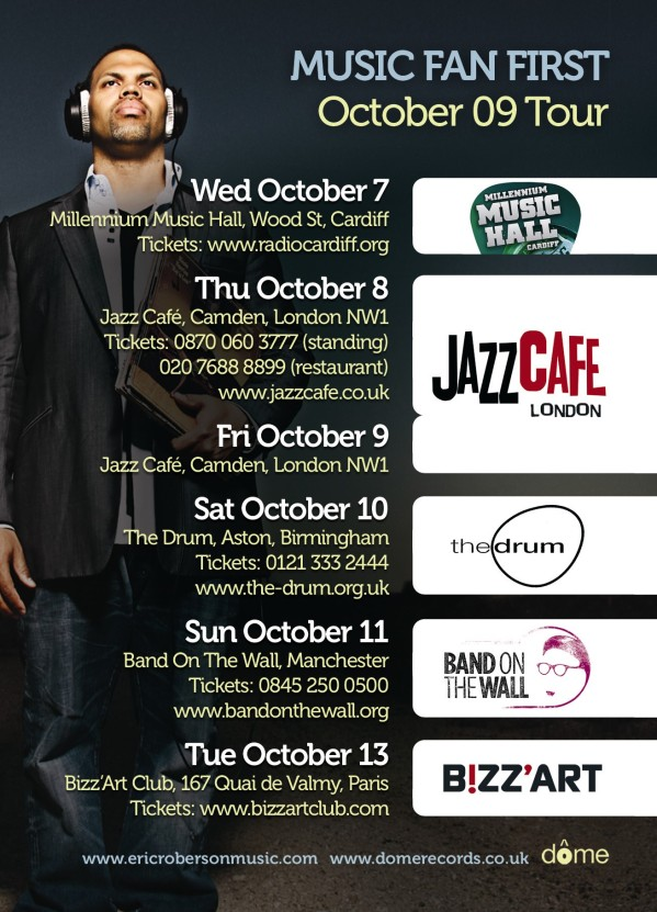 Eric Roberson Oct 09 dates e-flyer